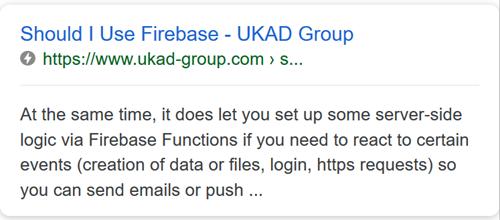 UKAD article - Should I use Firebase