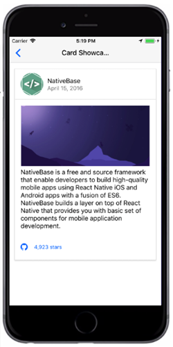 React Native Card